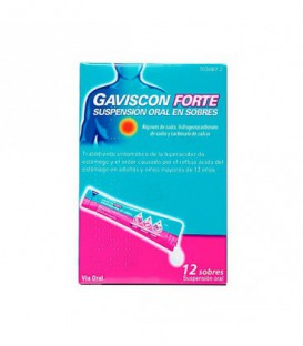 GAVISCON FORTE SUSPENSION ORAL EN SOBRES, 12 sobres